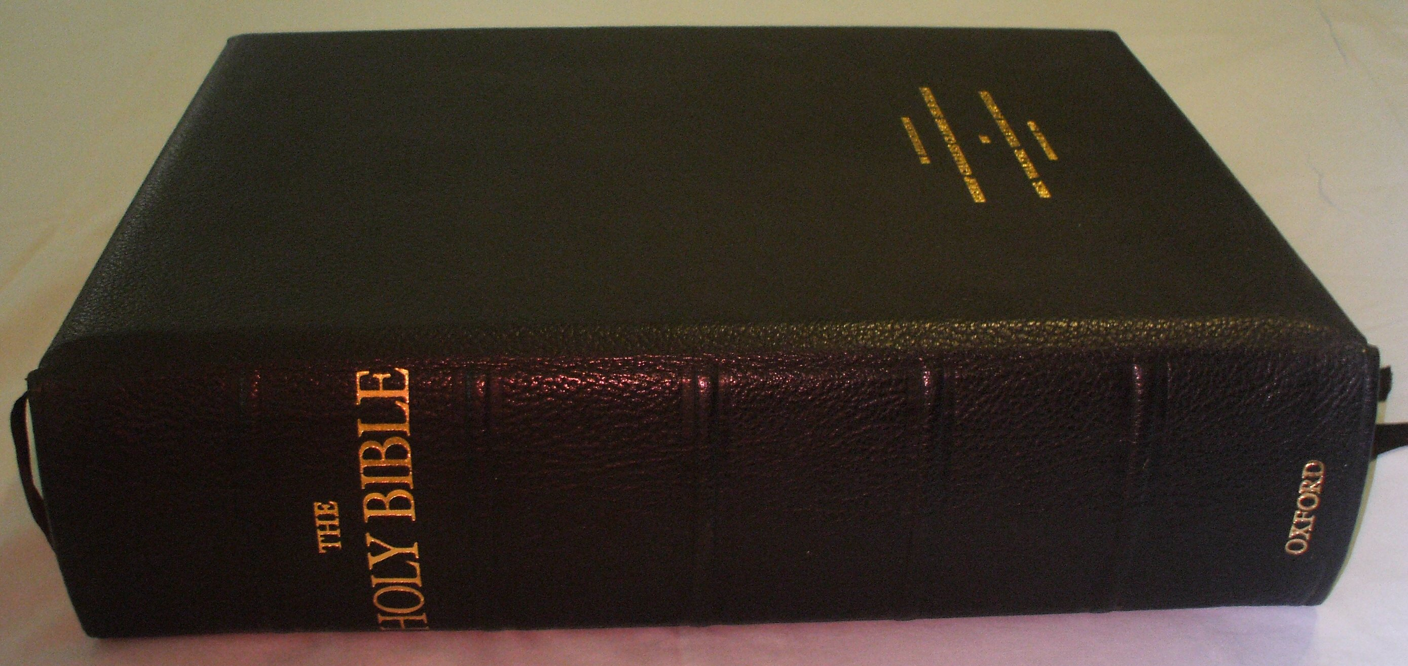 Oxford Letern Bible Spine 1