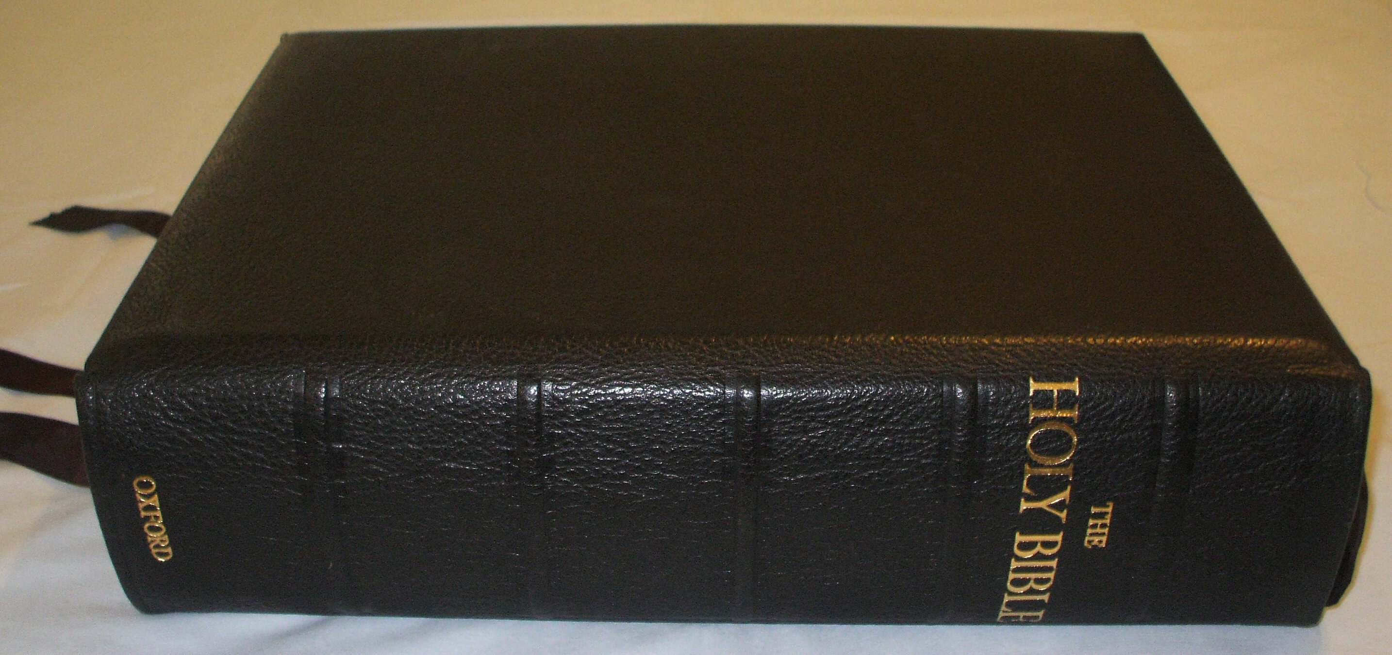 Oxford Letern Bible Spine 2