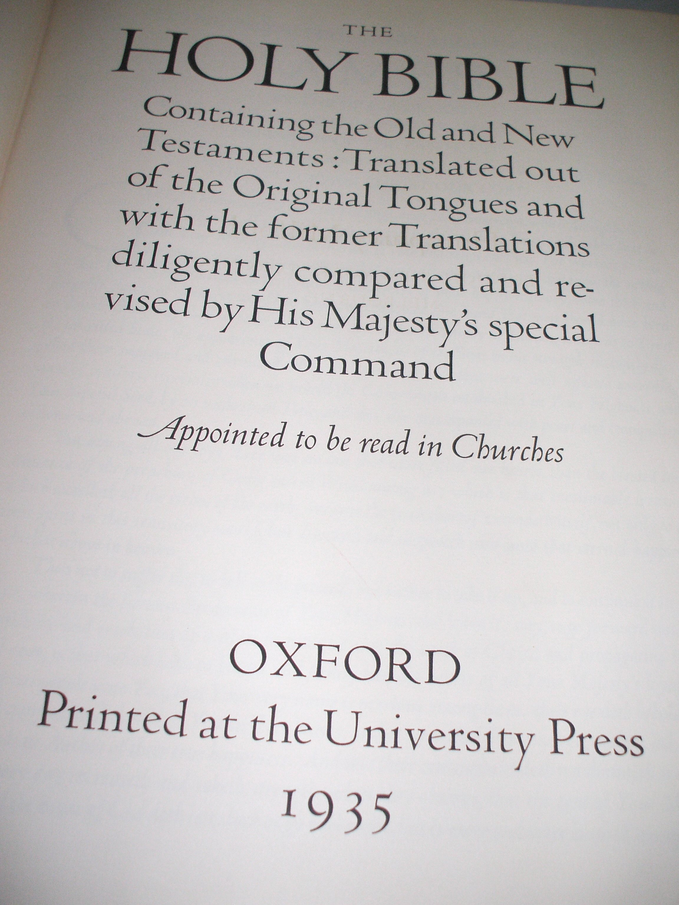 Oxford Letern Bible Title Page 1