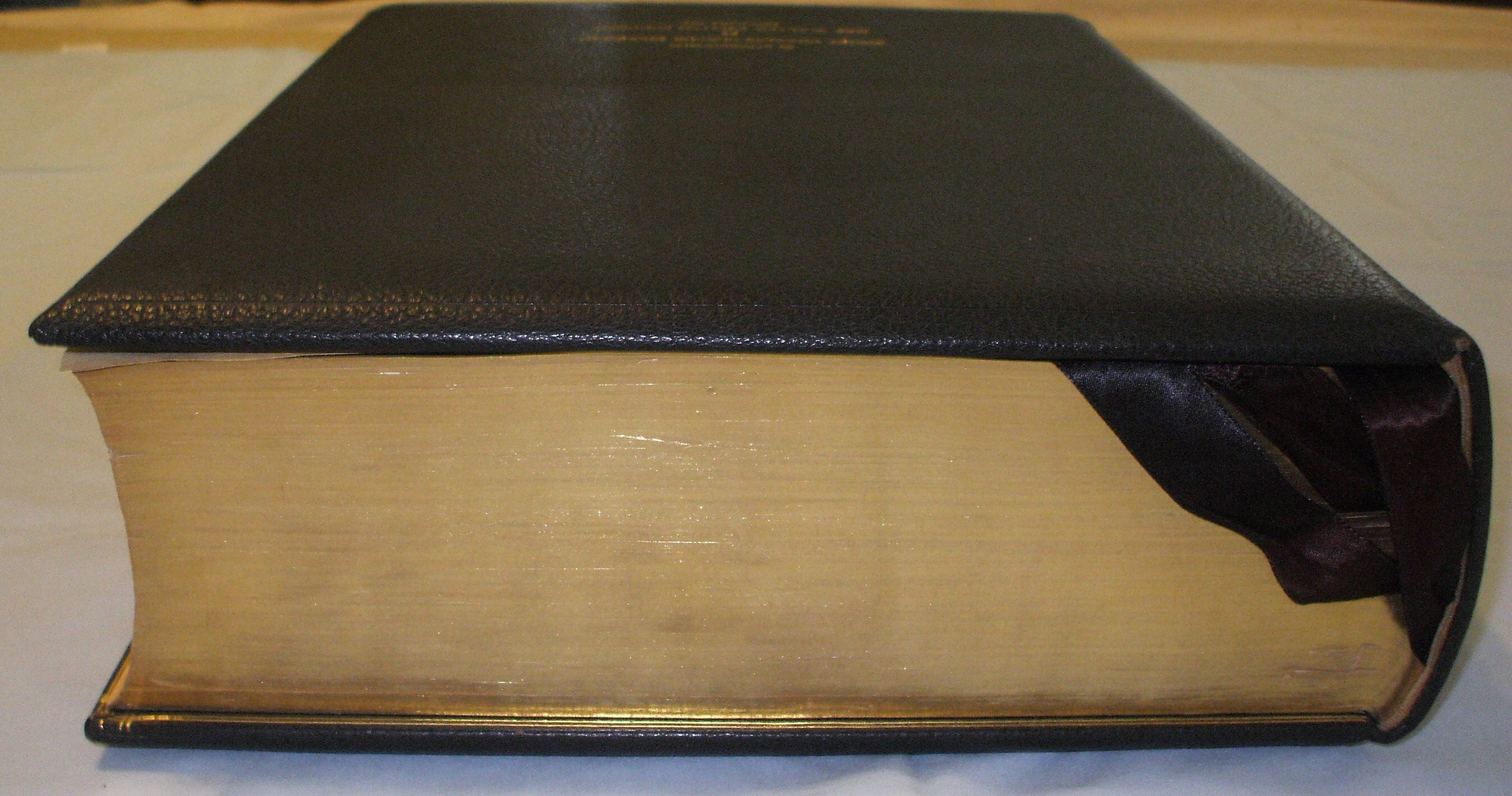 Oxford Letern Bible Top Edge